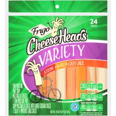 The ultimate family-pleasing Variety Pack. You'll have all of your family's favorite Frigo Cheese Heads cheese varieties: String, Swirls and Colby Jack Cheese Sticks; ready to go whenever they're ready to go. Head Cheese, Bad Room Ideas, Colby Jack, Cheese Snacks, String Cheese, Types Of Cheese, Crock Pot Soup, Vanilla Yogurt, Jelly Beans