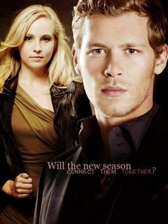 I hope I don't have to wait for the new season for them to connect together! I hope she appears in The Originals too! Vampire Diaries Poster, The Vampire Diaries 3, Vampire Diaries The Originals, Klaus And Caroline, Caroline Forbes, Candice Accola, Paul Wesley, Cw The Originals, Kevin Williamson
