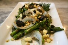 Grilled Asparagus Onion Balsamic and Blue Cheese - A Healthy Life For Me