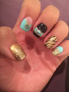 Princess jasmine nails - Disney Aladdin nail art