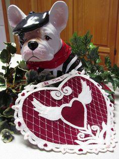 Wool Applique' PATTERN Vintage Hearts & Lace by betsyloupatterns