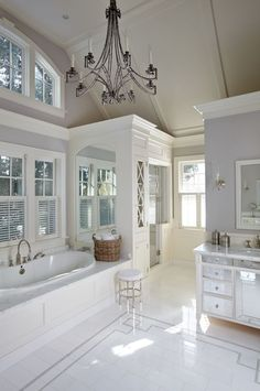 Gorgeous light and open bathroom