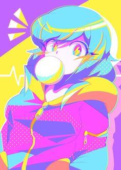 Japanese Illustrator BerryVerrine Dazzles With Awesome Retrowave Kawaii Art -. Arte Do Kawaii, Kawaii Art, Cartoon Art Styles, Cute Art Styles, Film Manga, Manga Art, Kawaii Anime Girl, Anime Art Girl, Estilo Anime