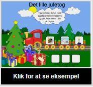 SMART Exchange – Danmark Det lille juletog [SMART Notebook-lektion] Gæt hvad der er i gaverne ved at finde ordenes forlyd. Fag: Dansk Klassetrin: grade 0,  grade 1,  grade 2,  Specialundervisning, inklusion.