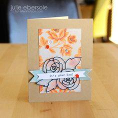 Vellum Gardenia card by Julie