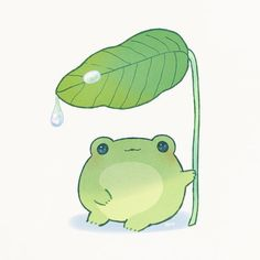 Awwww so cute Cute Animal Drawings Kawaii, Cute Little Drawings, Cute Drawings, Indie Drawings, Frog Pictures, Cute Pictures, Griffonnages Kawaii, Frog Drawing, Frog Art