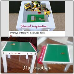 Ikea hack - Lego table.. love this!
