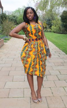 ♥Tropical Tulip Dress at My Asho Market ~Latest African Fashion, African women dresses, African Prints, African clothing jackets, skirts, short dresses, African men's fashion, children's fashion, African bags, African shoes ~DK