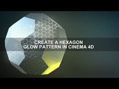How to create a Glowing Hexagon Texture in Cinema 4D - YouTube