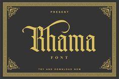 Rhama Font by inksunmildertype™ on @creativemarket