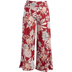 GLAM Burgundy & Pink Floral Palazzo Pants (2695 RSD) ❤ liked on Polyvore featuring plus size women's fashion, plus size clothing, plus size pants, plus size, stretch pants, pink palazzo pants, flower print pants, floral palazzo pants and print palazzo pants