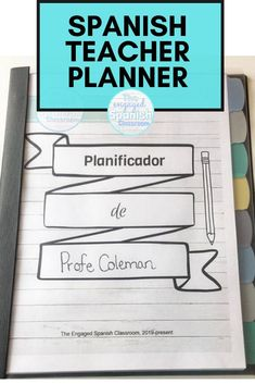 How amazing would it be if we were able to stay on top of everything in managing our secondary Spanish classes? Pretty amazing -- which is why I created this Spanish teacher planner for middle school and high school Spanish teachers! It has 61 pages and will help you track attendance, participation, parent communication, goal setting, homework, a to-do list, and so much more. It's a must-have for Spanish teachers who need to organize! Click through to get more information about this planner. Spanish Teacher, Spanish Classroom, Teaching Spanish, Classroom Setup, Study Spanish, Spanish Lessons, Sub Plans Template, Reading Tracker, Middle School Spanish