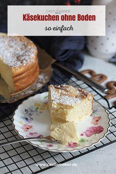 Käsekuchen ohn Boden geht so super einfach, dass man ihn auch schnell bei kurfristig angekündigtem Besuch backen kann. Dieser Käsekuchen muss auch nicht lange kühlen und fest werden, sondern kann direkt angeschnitten werden. Das Rezept für den Käsekuchen ohne Boden gibt es auf Castlemaker.de Dessert, Fashion Over 40, Super Simple, Bakken, Desserts, Postres, Plated Desserts
