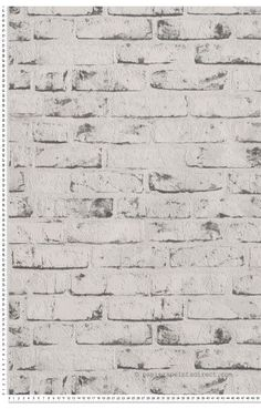Papier peint briques blanches et grises - Collection New England Textured Brick Wallpaper, Wood Wallpaper, Geek Room, Bedding Inspiration, Grey Brick, Basement Remodeling, My New Room, Textures Patterns, Tapestry