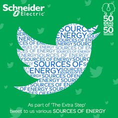 As part of 'The Extra Step' tweet to us various sources of energy. The most innovative answer may just be our Daily Marathon winner. Don't forget to tag @SchniederIndia #TheExtraStep and log your steps on Energy Marathon App: https://www.facebook.com/SchneiderElectricIN/app_347740821992062
