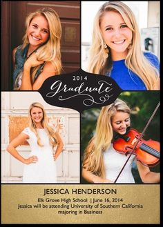 Graduation announcements ~ A touch of class to send to everyone.