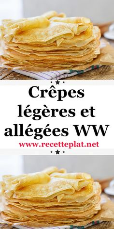 Here is the recipe for light and light WW pancakes, tasty pancakes . Vegan Crockpot Recipes, Ww Recipes, Shrimp Recipes, Mexican Food Recipes, Indian Recipes, Quick Dessert Recipes, Ww Desserts, Snack Recipes, Dessert Ww