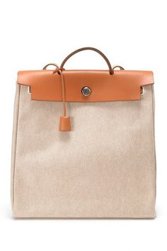 Vintage Hermes Cotton Herbag MM (Stamp: Square B) Handbag by LXR on @HauteLook