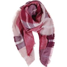 Humble Chic NY Plaid Blanket Scarf ($34) ❤ liked on Polyvore featuring accessories, scarves, accessories - scarves, pink, plaid scarves, tartan plaid shawl, plaid blanket scarf, oversized scarves and lightweight scarves