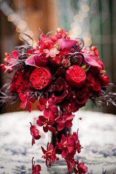Trailing Red Orchid Bouquet   Flora Nova Design/Seattle