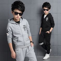 93db540479 Boys Sports Suits Cotton Letter Clothing Sets For Boys Tracksuits Spring  Autumn 3 4 5 6 7 8 9 10 11 12 13 14 years Kids Outfits -in Clothing Sets  from ...