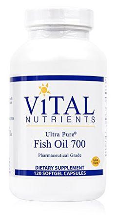 Vital Nutrients - Ultra Pure Fish Oil 700 (Pharmaceutical Grade) - Hi-Potency Deep Sea Fish Oil, Cardiovascular Support - 120 Softgels