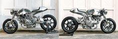 LIQUID MENTAL. A Chrome Ducati Café Racer from Walt Siegl.    http://pipeburn.com/home/2017/10/24/ducati-monster-1100-cafe-racer.html
