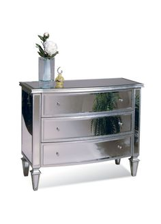 Mirrored Furniture is both unique and contemporary.   A reflective surface is something to think about when designing your master or guest bedroom.  A mirrored piece of furniture guarantees modern flair, and like all mirrors, will pull more light into the room.  Discover the newest mirrored furniture at www.ncfurniturebestbuys.com