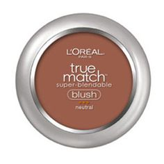True Match Blush in shade Apricot Kiss. A brownish red powder blush that blends to skin tone and hides blemishes.