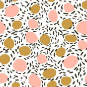 abstract pebbles art dots kids stone terrazzo 80s retro floor tiles by charlottewinter
