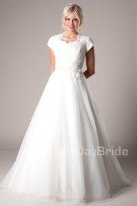 Westbury - Modest Wedding Dress Front