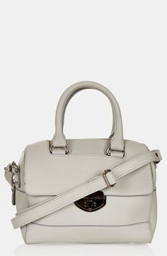 Topshop Faux Leather Mini Satchel available at #Nordstrom