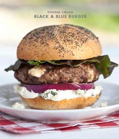 Black & Blue Cheese Burger