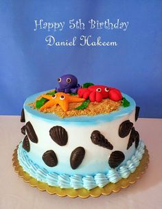 MY BAKING WORKSHOP: OCEAN THEME CAKE & A HAPPY 5TH BIRTHDAY MY DANIEL ...