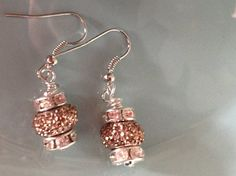 Check out this item in my Etsy shop https://www.etsy.com/listing/250423517/beaded-copper-earrings-rhinestone