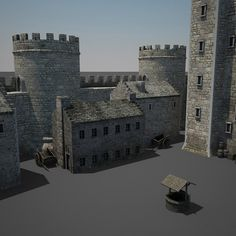 Medieval Castle Model available on Turbo Squid, the world's leading provider of digital models for visualization, films, television, and games. Fantasy Castle, Fantasy Map, Fantasy World, Minecraft Medieval Castle, Lego Castle, Model Castle, Castle Project, Conan Exiles, Dungeon Maps