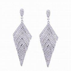 #RoseWholesale - #Rosewholesale Fashion Design Geometric Stud Drop Earrings with Diamond Graceful Charm Jewelry - AdoreWe.com