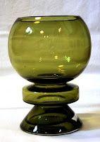 """A glass vase """"Ella"""" by Nanny Still. Designed in 1970s. Riihimäen lasi."""