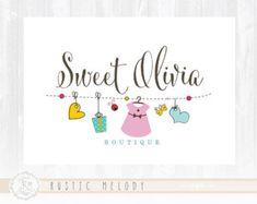 Los niños Logo Diseño Logo fiesta bebé Logo bebé insignia