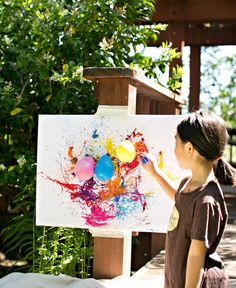Get artistic while practicing your aim. | 27 Ridiculously Cool Projects For Kids That Adults Will Want To Try
