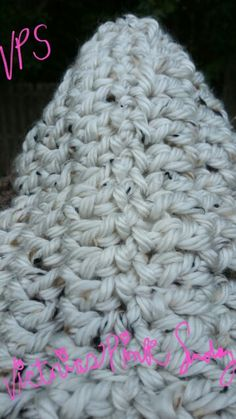 """My """"Hooded"""" Cowl neck scarf ( back view)"""