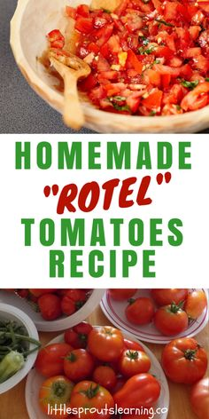 You can make your own spicy diced tomato and chili homemade rotel tomatoes recipe with garden tomatoes this summer and fill your freezer full of flavor. Recipes With Diced Tomatoes, Fresh Tomato Recipes, Canning Diced Tomatoes, Freezing Tomatoes, Recipes With Rotel, Garden Tomato Recipes, Tomato Ideas, Roasted Tomatoes, Tomatoes
