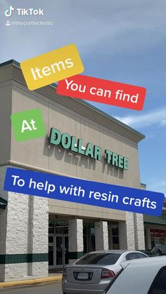 Items you can get at Dollar Tree to help with your resin crafts. Epoxy Resin Art, Diy Resin Art, Diy Resin Crafts, Fun Crafts, Resin Molds, Dollar Tree Finds, Dollar Tree Crafts, Small Business Plan, Business Ideas