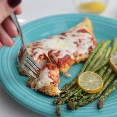 Easy Cheesy Baked Chicken Parmesan - www.countrycleaver.com