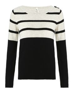 Part Two Blaky black stripe jumper - Atterley Road