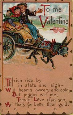 Vtg Tuck's Valentine's Day Postcard Victorian Romance Love
