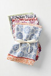 It would be fun and easy to make some cute napkins.  Great Christmas presents!