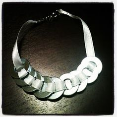 washer jewelery Creative Crafts, Diy Crafts, Diy Jewelry, Jewelery, Jewellery Making, Washer, Diy Tutorial, Dyi, Projects To Try