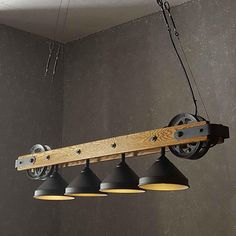 The Pacifica - Bar Chandelier - Modern Rustic Lighting - Kitchen Island Dining Table Hanging Chandel