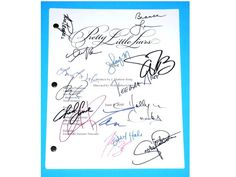 Hey, I found this really awesome Etsy listing at https://www.etsy.com/listing/196813180/pretty-little-liars-tv-script-signed